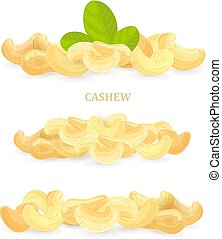collection of banners with cashews for your design