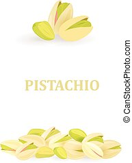collection of banners with pistachios for your design