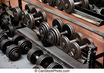 Collection of barbells