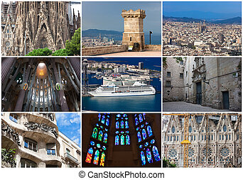 Collection of beautiful photos in Barcelona, Spain