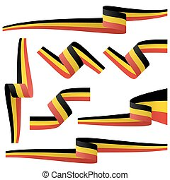 collection of belgian country flag banners - collection of...