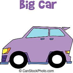 Collection of big car vector art