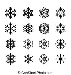 collection of black snowflakes