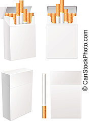 Collection of blank cigarette pack