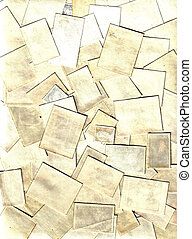 collection of blank old post stamps