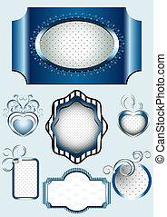 Collection of blue framework