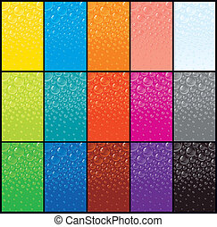 Large Set of Colorful Bubble Backgrounds. Vector Graphics