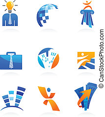 collection of business and consulting icons, vector illustration