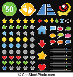 Collection of buttons8