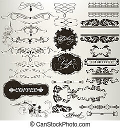 Collection of calligraphic design e - Vector set of...