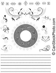 Collection of calligraphic details