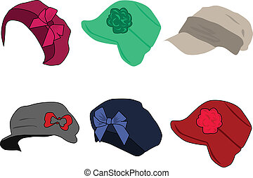 collection of caps