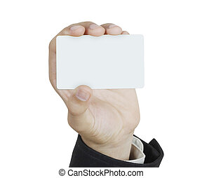 collection of card blanks in a hand