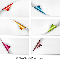 Collection of cardboard paper banners. Vector