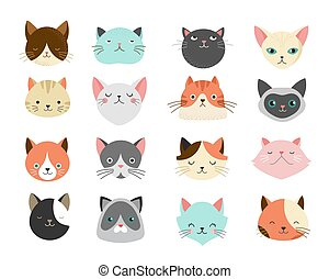 Collection of cats illustrations