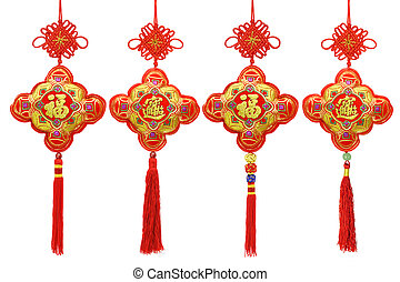 Collection of Chinese New Year traditional ornaments