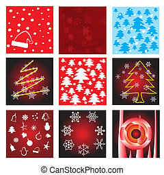 Collection of christmas background vector