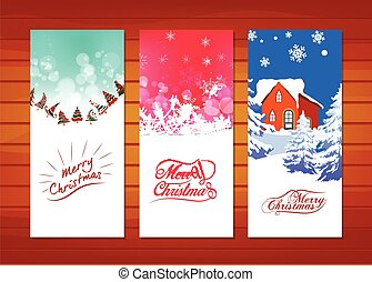 Collection of Christmas banners.
