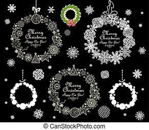 Collection of Christmas decorative wreath