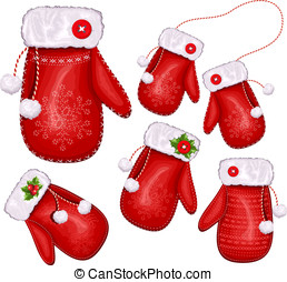 Christmas gift mittens - Collection of Christmas gift...