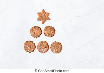Collection of Christmas gingerbread cookies