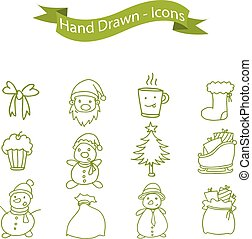 Collection of Christmas holiday icons