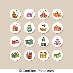 Collection Of christmas houses