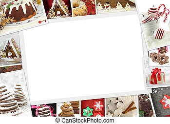 Collection of Christmas photos of confections with copy...
