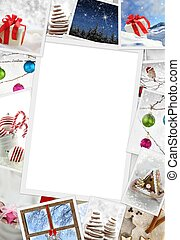 Collection of Christmas photos with copy space