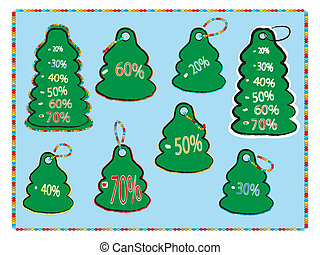 collection of christmas  tags  vect