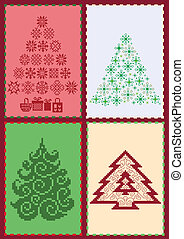 Collection of Christmas trees 02