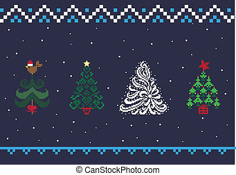 Collection of Christmas trees 05