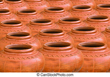 Collection of clay pot