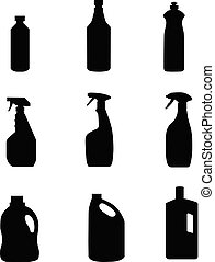 cleaning product household vector
