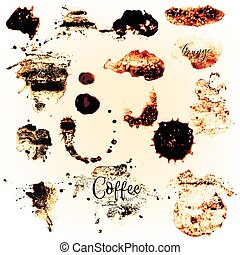 Collection of coffee spots