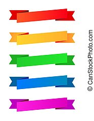 Collection of color ribbons
