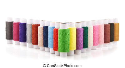 collection of color thread