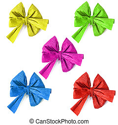 collection of colored ribbons