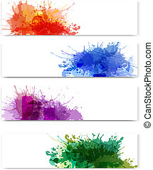 Collection of colorful banners - Collection of colorful...