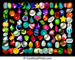 Collection of colorful beads