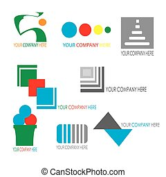 Collection of colorful business logo template