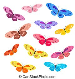 collection of colorful butterflies for your design