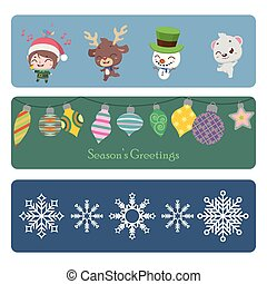 Collection of colorful Christmas banners