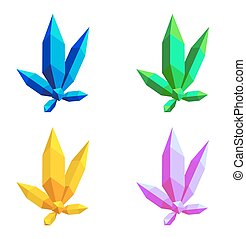 Collection of colorful crystals. eps 10 vector illustration
