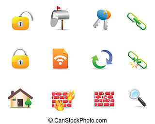 collection of colorful Internet & Web Icons