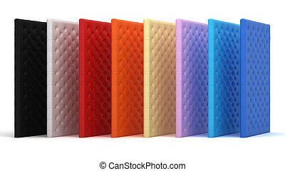 Collection of colorful luxury mattresses