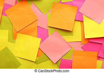 collection of colorful paper notes