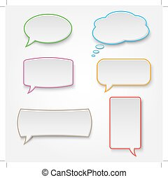 Collection of colorful speech bubbles