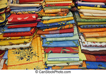 ... Collection Of Colorful Tablecloths And Towels Washable... ...