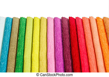 Collection of colorful textile samples